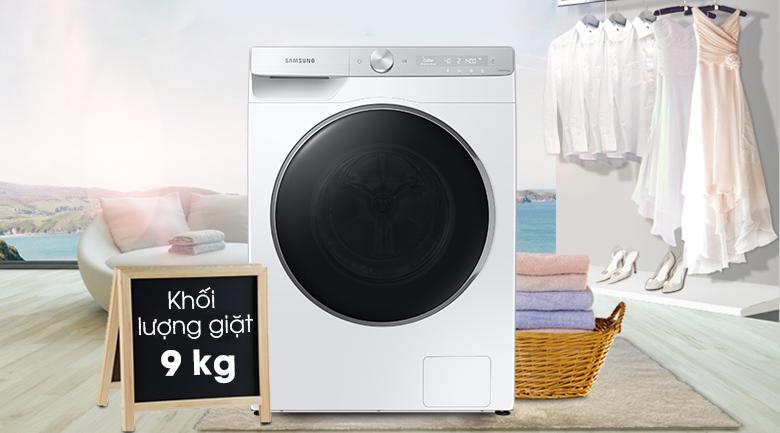 Máy giặt Samsung AI Inverter 9kg WW90TP44DSH/SV - Khối lượng giặt 9 kg