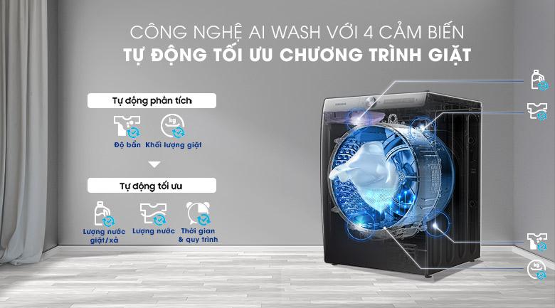 Máy giặt sấy Samsung WD14TP44DSB/SV