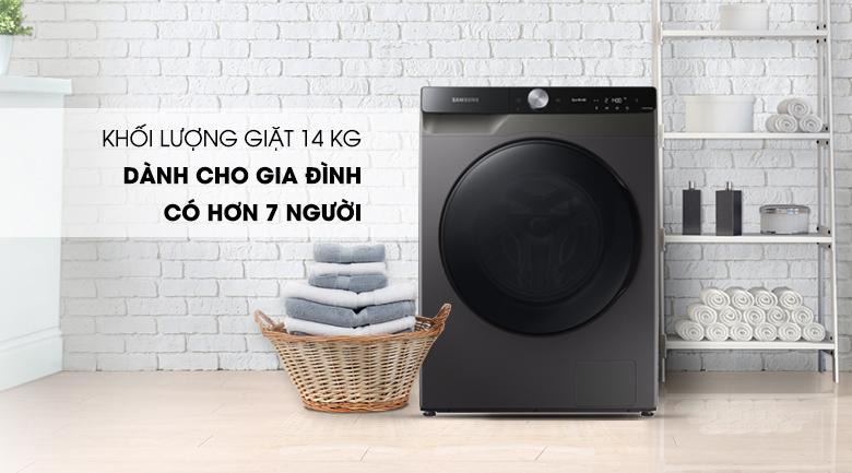 Máy giặt sấy Samsung WD14TP44DSB/SV - khối lượng