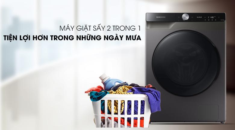 Máy giặt sấy Samsung WD14TP44DSB/SV - sấy