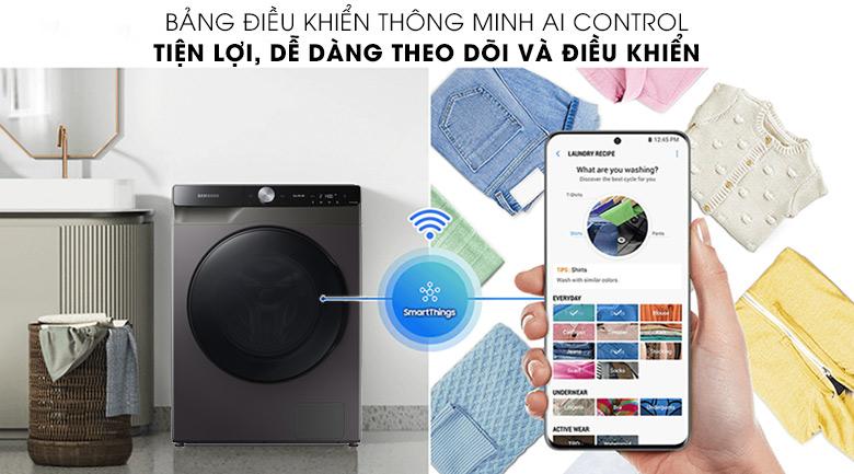 Máy giặt sấy Samsung WD14TP44DSB/SV - AI Control