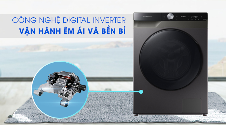 Máy giặt sấy Samsung WD14TP44DSB/SV - Digital Inverter