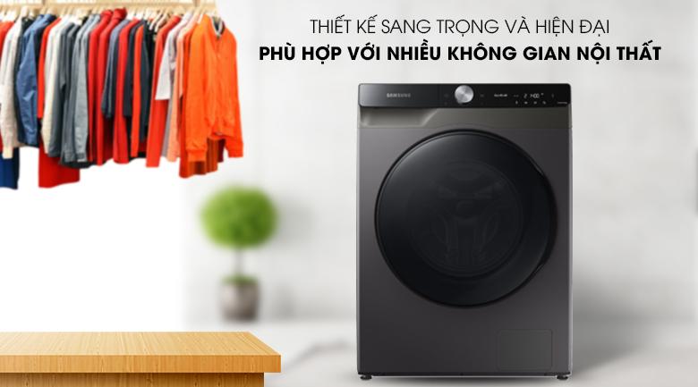 Máy giặt sấy Samsung WD14TP44DSB/SV - thiết kế