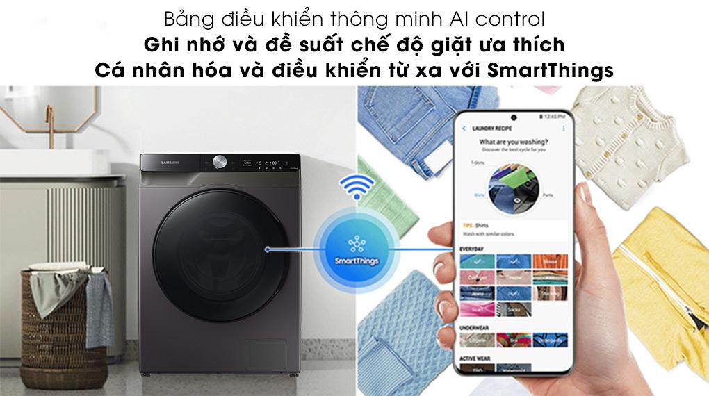 Máy giặt sấy Samsung 11kg WD11T734DBX/SV - AI Control