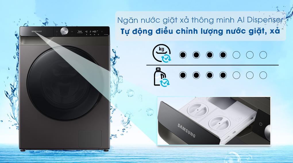 Máy giặt sấy Samsung 11kg WD11T734DBX/SV - AI Dipenser