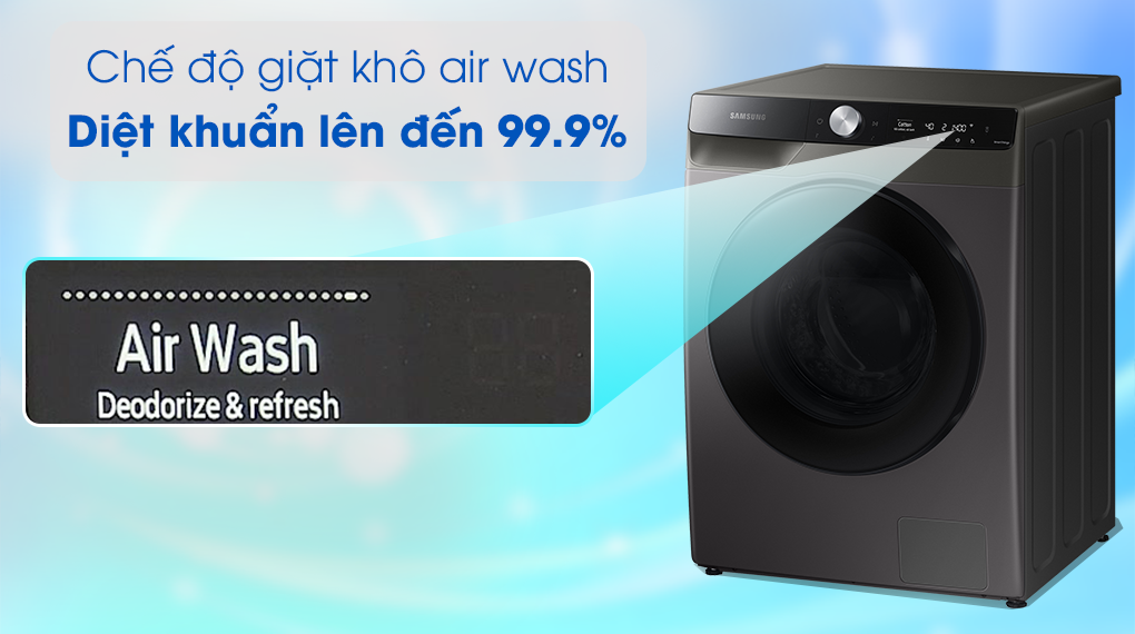 Máy giặt sấy Samsung 11kg WD11T734DBX/SV - Air Wash