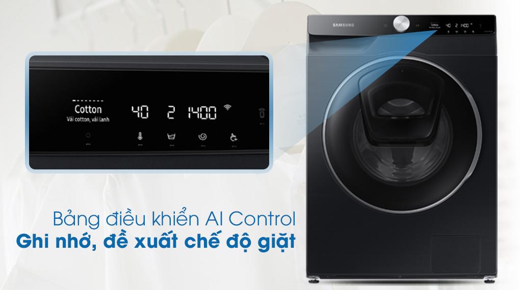 Máy giặt Samsung AI AddWash Inverter 12kg WW12TP94DSB/SV - Bảng điều khiển AI Control