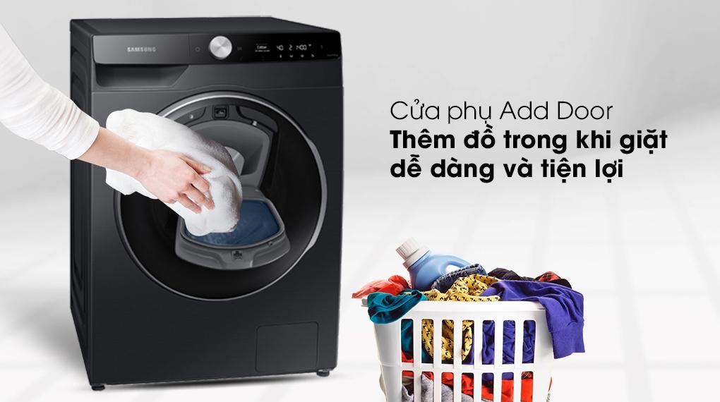 Máy giặt Samsung AI AddWash Inverter 12kg WW12TP94DSB/SV - Cửa phụ Add Door thêm đồ khi giặt