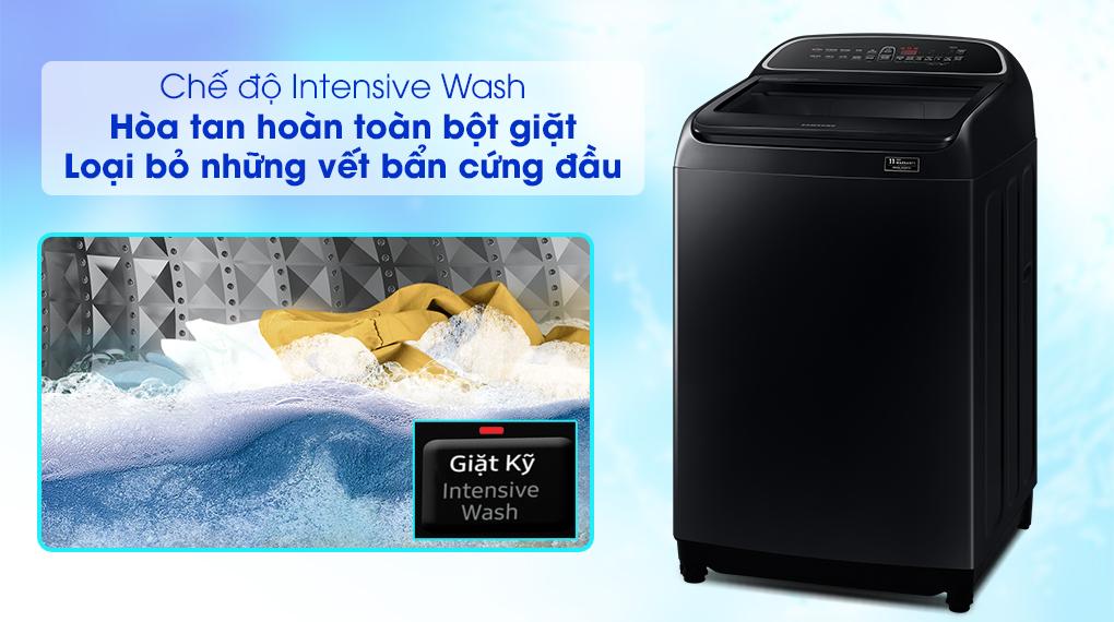Máy giặt Samsung DD Inverter 10 Kg WA10T5260BV/SV-Hỗ trợ loại bỏ vết bẩn cứng đầu nhờ chức năng Intensive Wash