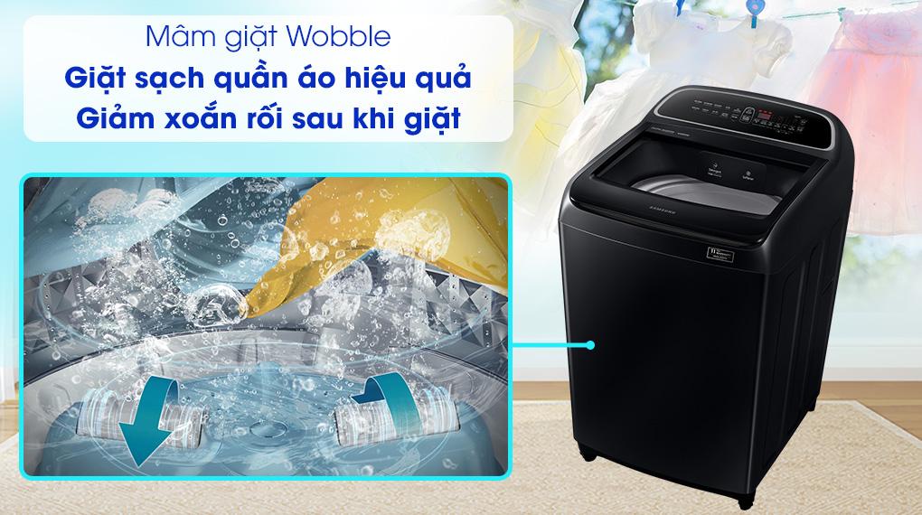 Máy giặt Samsung DD Inverter 10 Kg WA10T5260BV/SV-Giảm thiểu tình trạng xoắn rối và bảo vệ quần áo tối ưu với mâm giặt Wobble