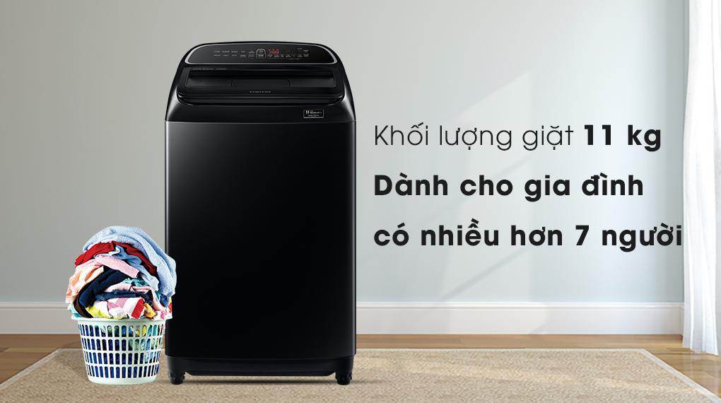 Máy giặt Samsung WA11T5260BV/SV  - khối lượng