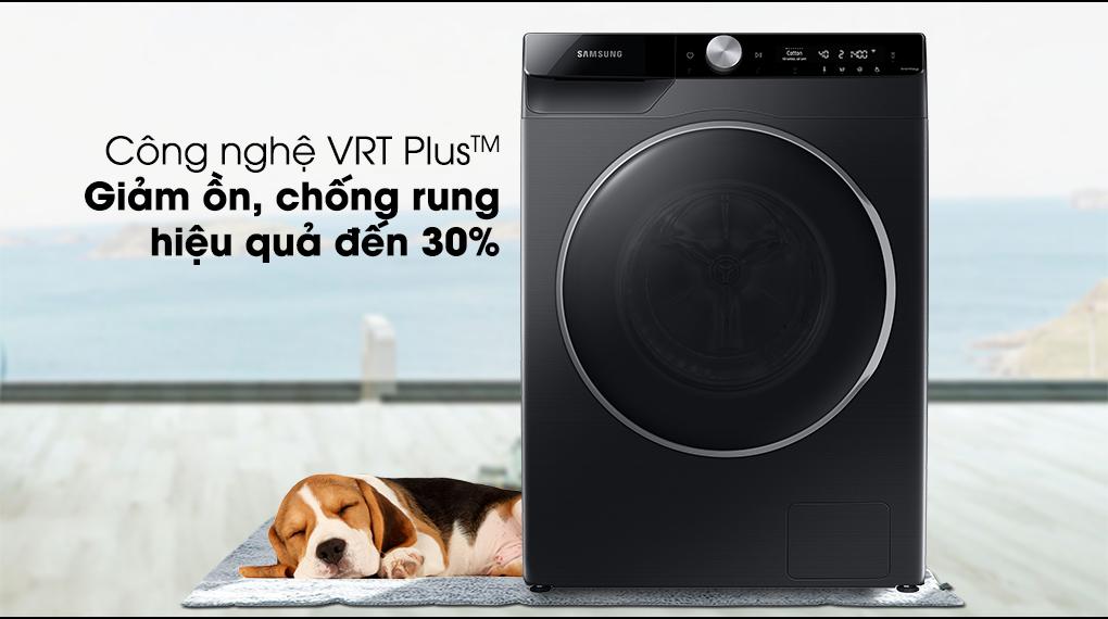 Máy giặt Samsung Inverter 10kg WW10TP44DSB/SV-Giảm thiểu độ ồn, chống rung tốt với công nghệ VRT Plus™