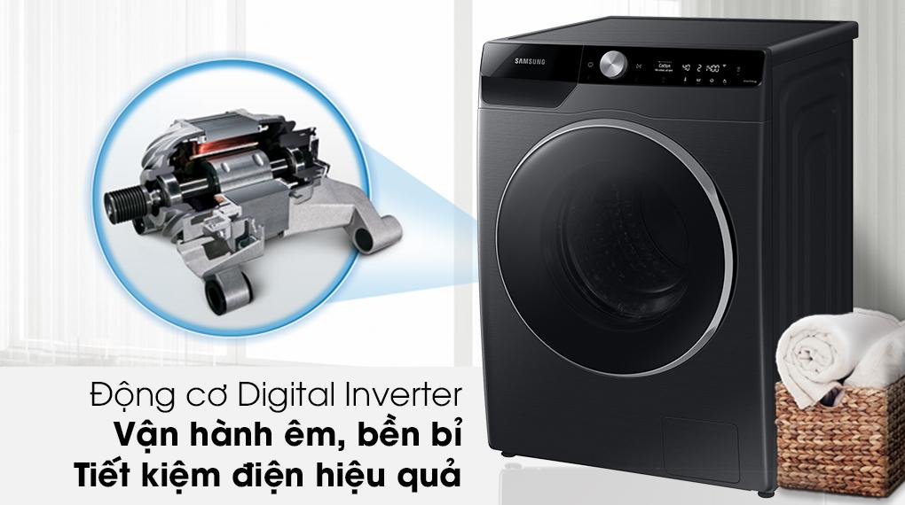 Máy giặt Samsung Inverter 10kg WW10TP44DSB/SV-Tiêu thụ điện năng hiệu quả, vận hành êm nhờ động cơ Digital Inverter