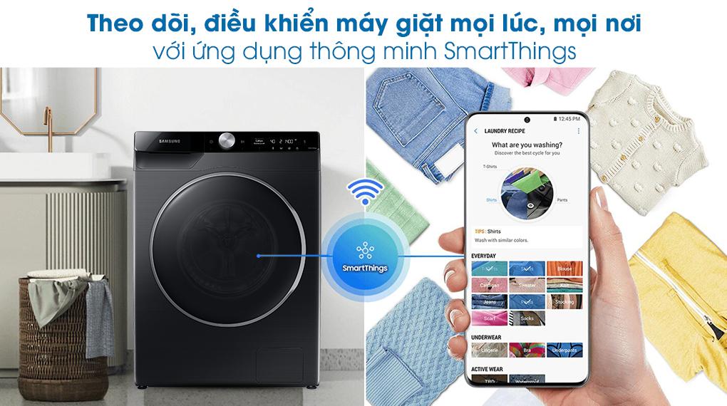 Máy giặt Samsung Inverter 10kg WW10TP44DSB/SV-Điều khiển từ xa nhanh chóng, tiện lợi qua ứng dụng SmartThings