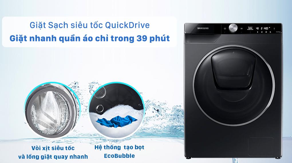 Máy giặt Samsung WW10TP54DSB/SV - giặt nhanh 39 phút