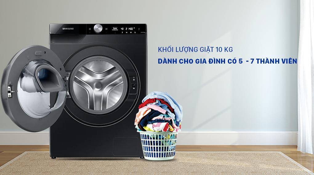 Máy giặt Samsung WW10TP54DSB/SV - Khối lượng