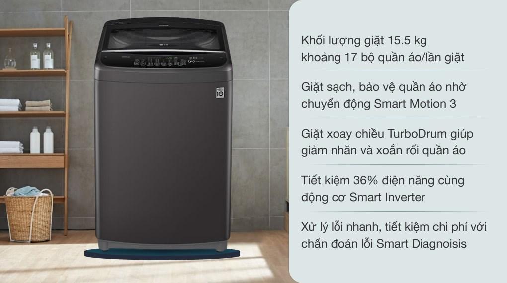 Máy giặt LG Inverter 15.5 Kg T2555VSAB