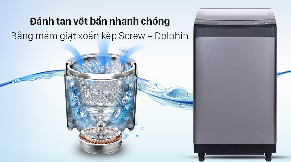 Máy giặt Sharp Inverter 9.5 Kg ES-X95HV-S - Mâm giặt xoắn kép