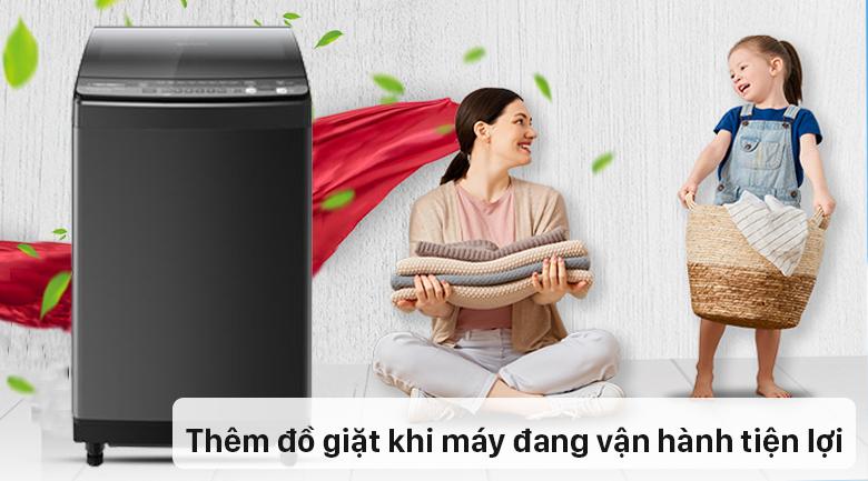 Máy giặt Sharp Inverter 9.5 Kg ES-X95HV-S - Thêm đồ tiện dụng khi đang vận hành