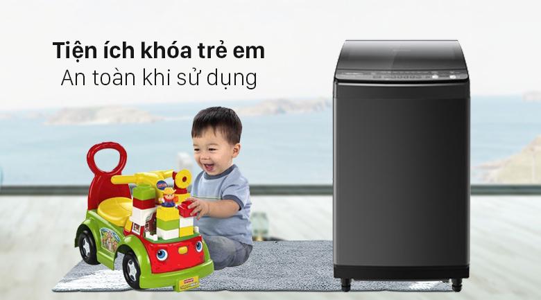 Máy giặt Sharp Inverter 9.5 Kg ES-X95HV-S - Khóa trẻ em an toàn khi sử dụng