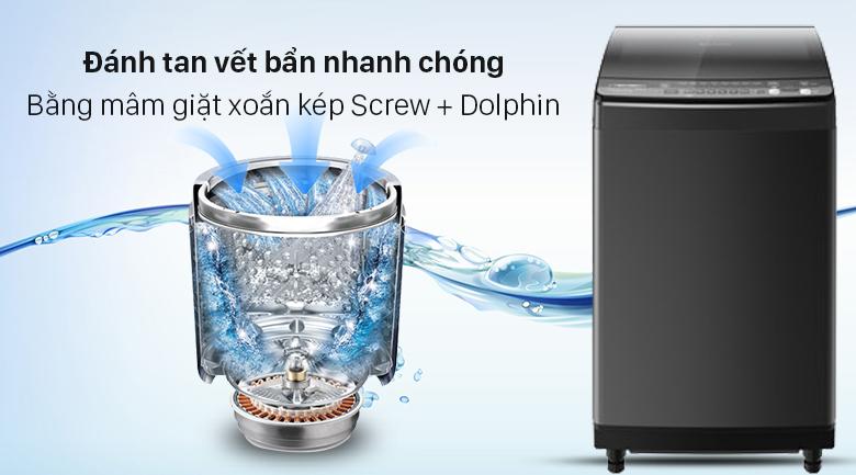 Máy giặt Sharp Inverter 9.5 Kg ES-X95HV-S - Đánh tan vết bẩn nhanh chóng