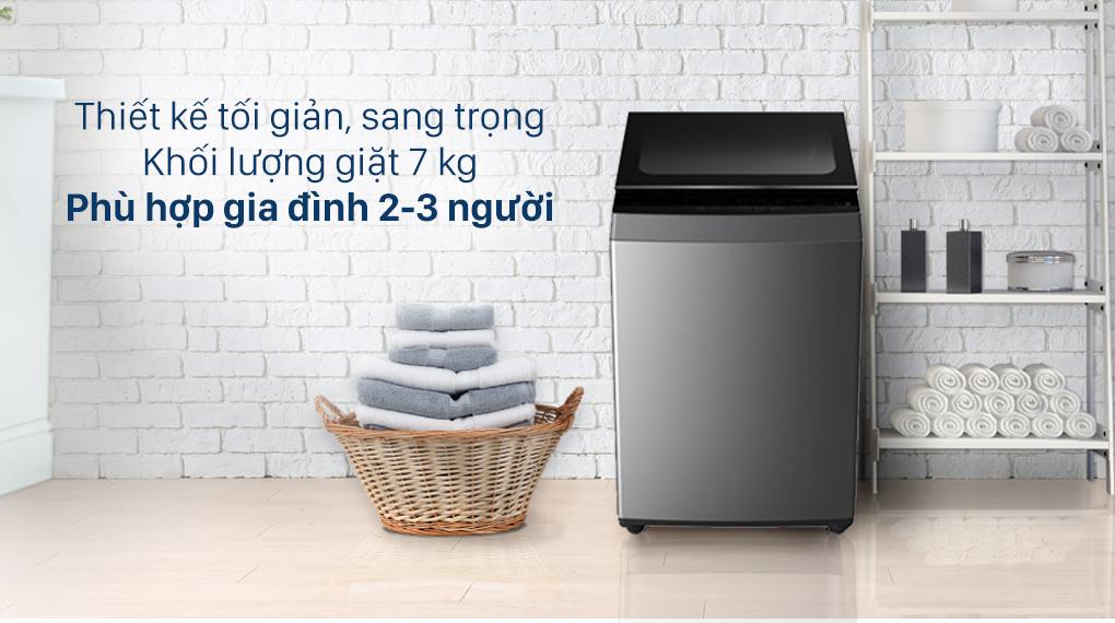 Máy giặt Toshiba 7 Kg AW-L805AV (SG) - Thiết kế tối giản, khối lượng giặt 7 kg