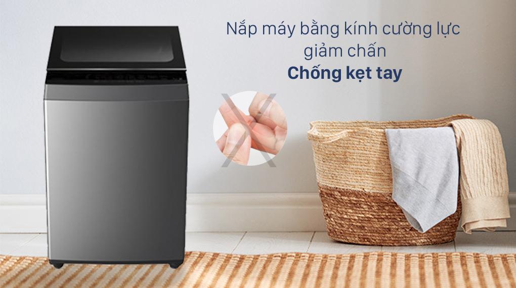 Máy giặt Toshiba 7 Kg AW-L805AV (SG) - Nắp máy kính cường lực giảm chấn