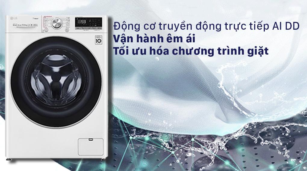 Máy giặt LG Inverter 10.5 kg FV1450S3W2 - Công nghệ AI DD
