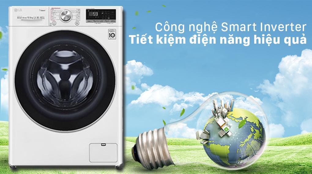 Máy giặt LG Inverter 10.5 kg FV1450S3W2 - Công nghệ Smart Inverter