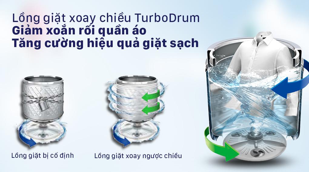 Máy giặt LG Inverter 13 kg T2313VSAB - Công nghệ TurboDrum