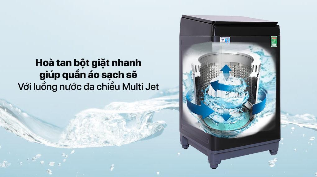 Máy giặt Aqua 10 KG AQW-F100GT.BK - Luống nước đa chiều Multi Jet