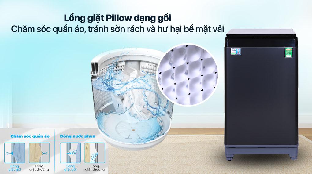 Máy giặt Aqua 10 KG AQW-F100GT.BK - Lồng giặt Pillow
