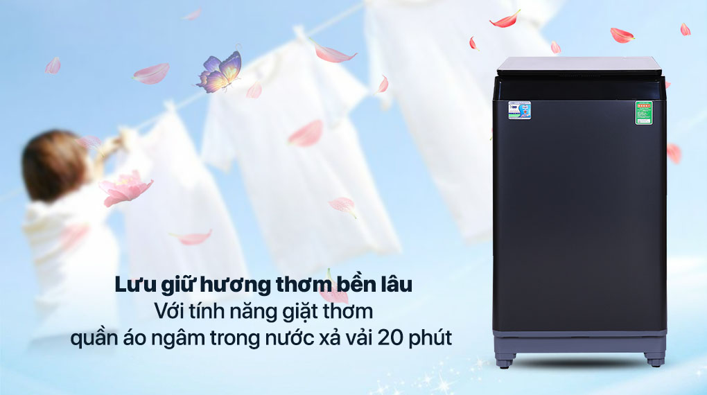 Máy giặt Aqua 10 KG AQW-F100GT.BK - Tính năng giặt thơm