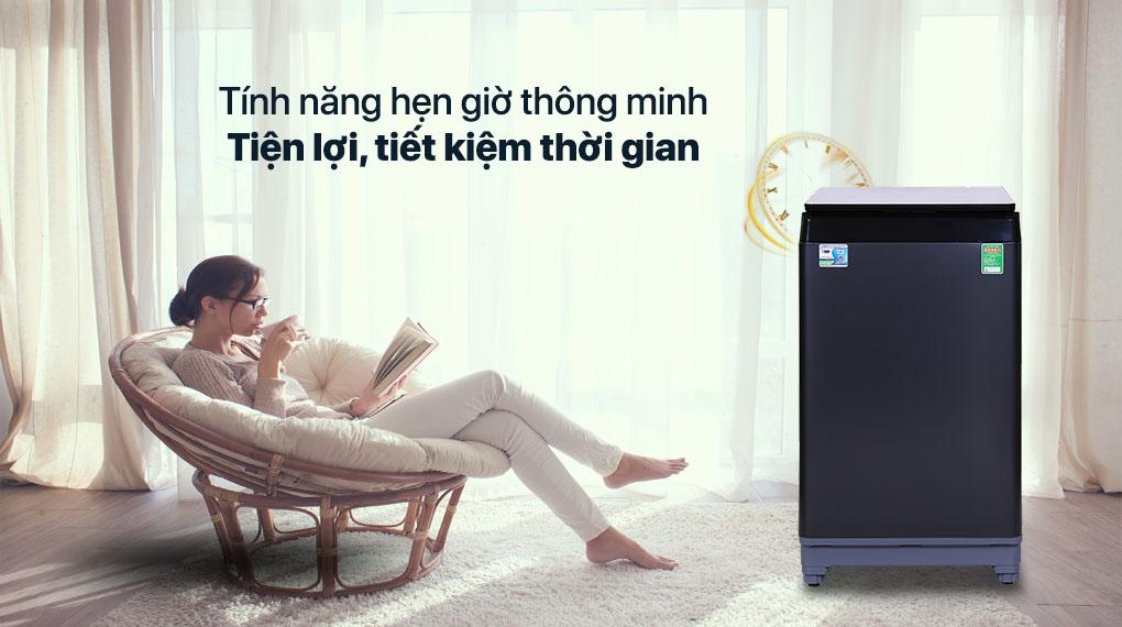 Máy giặt Aqua 10 KG AQW-F100GT.BK - Tính năng hẹn giờ, tiết kiệm thời gian