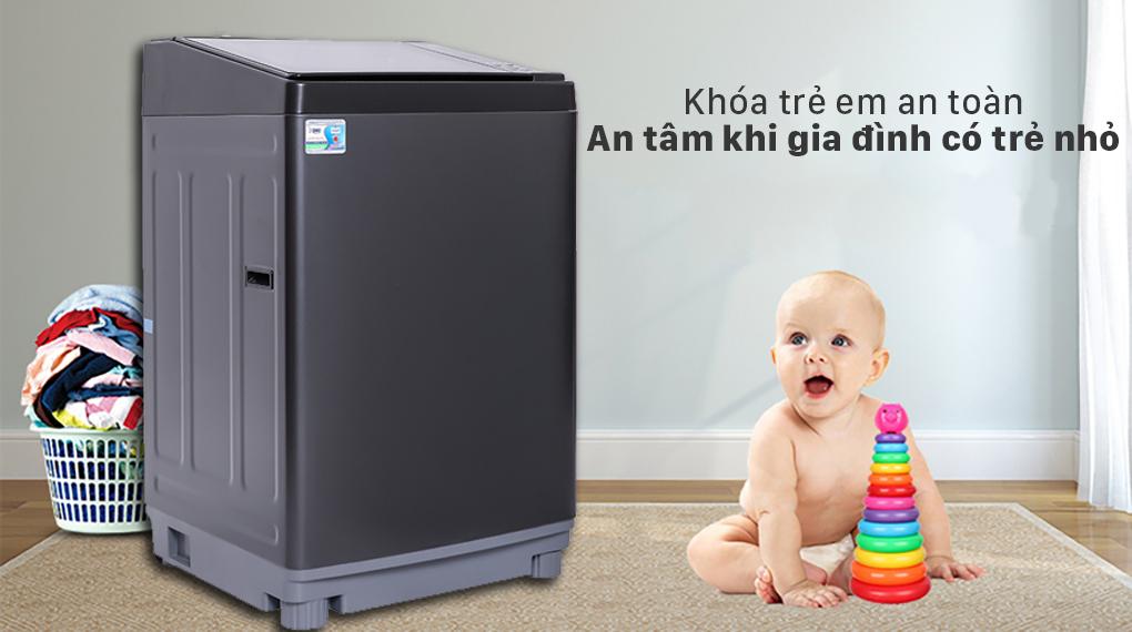 Máy giặt Aqua 12 kg AQW-FW120GT.BK - Khóa trẻ em