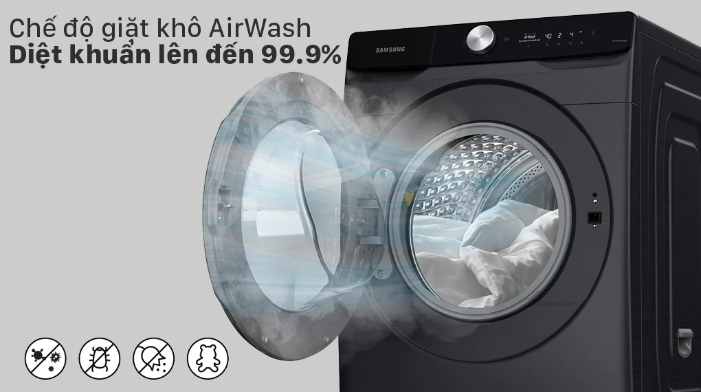 Máy giặt sấy Samsung Inverter 21 kg WD21T6500GV/SV - AirWash