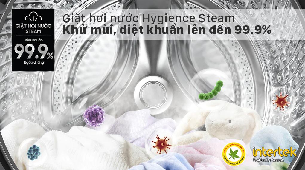 Máy giặt sấy Samsung Inverter 21 kg WD21T6500GV/SV - Hygience Steam