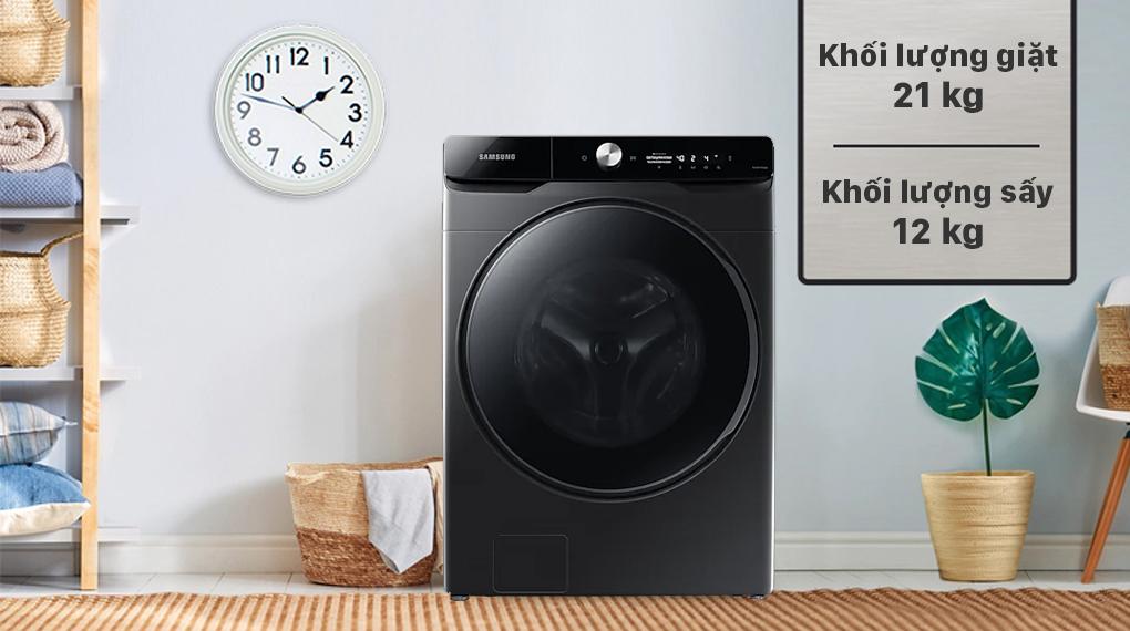 Máy giặt sấy Samsung Inverter 21 kg WD21T6500GV/SV - Khối lượng 21 kg
