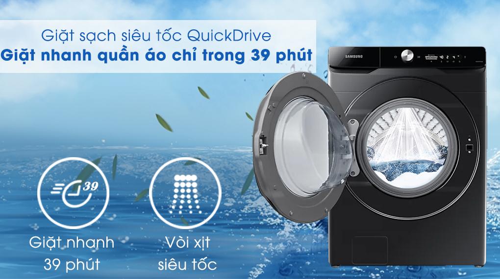 Máy giặt sấy Samsung Inverter 21 kg WD21T6500GV/SV - QuickDrive