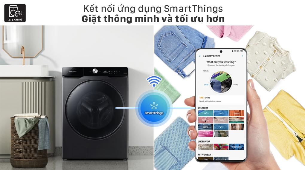 Máy giặt sấy Samsung Inverter 21 kg WD21T6500GV/SV - SmartThings