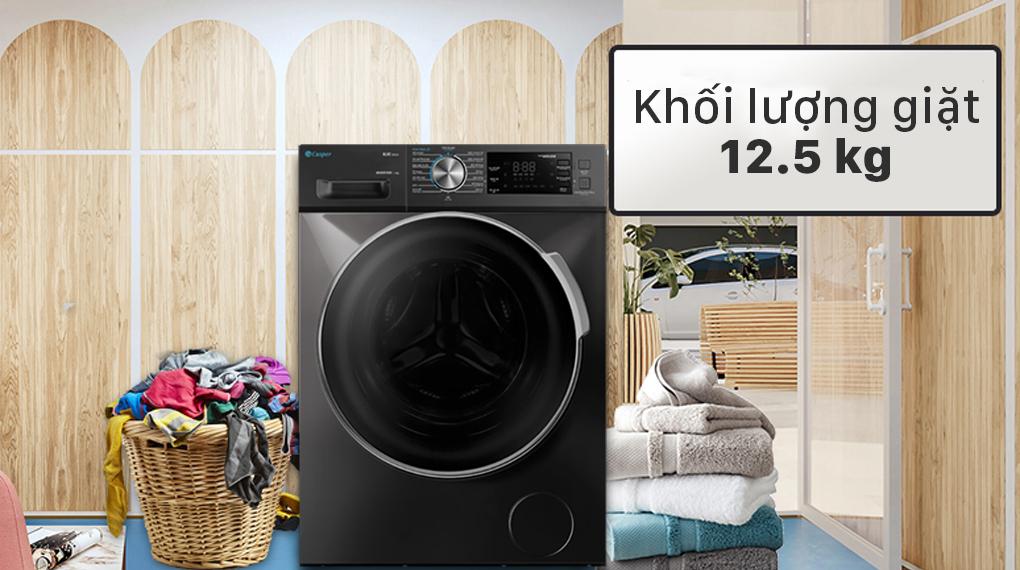 Máy giặt Casper Inverter 12.5 kg WF-125I140BGB - Khối lượng 12.5 kg