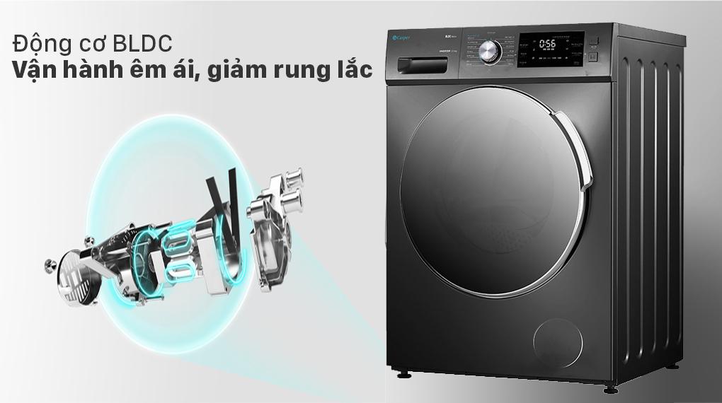 Máy giặt Casper Inverter 8.5 kg WF-85I140BGB - Động cơ BLDC