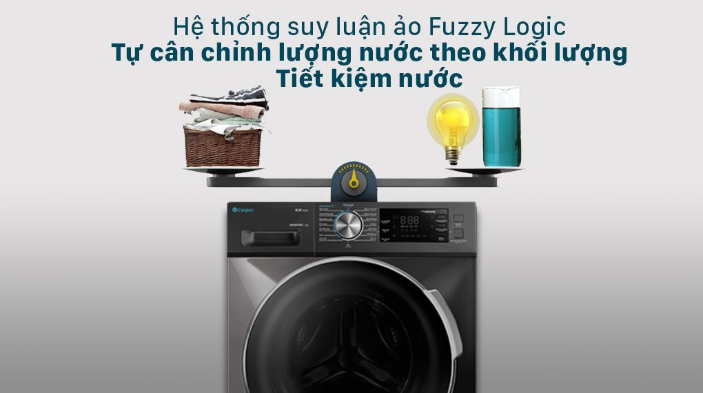 Máy giặt Casper Inverter 8.5 kg WF-85I140BGB - Hệ thống suy luận ảo Fuzzy Logic