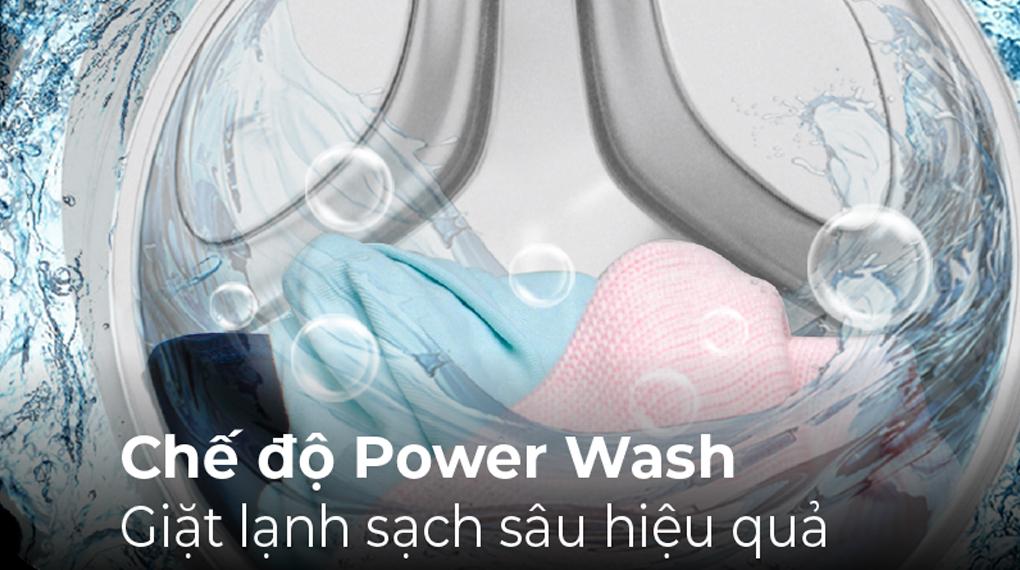 Máy giặt Casper Inverter 8.5 kg WF-85I140BGB - Chế độ Power Wash