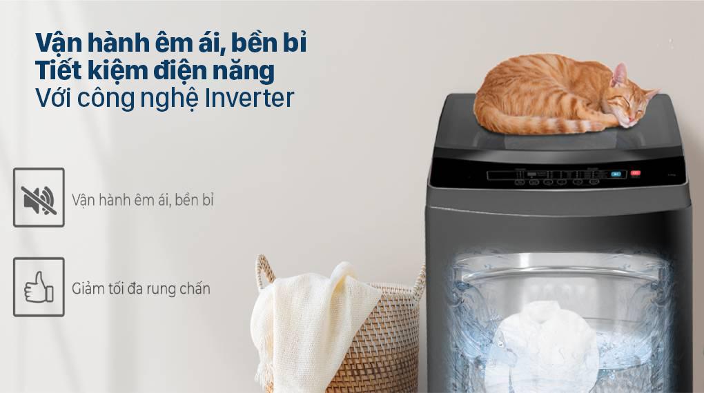 Máy giặt Casper Inverter 9.5 kg WT-95I68DGA - Tiết kiệm điện, hoạt động êm ái và bền bỉ với công nghệ Inverter
