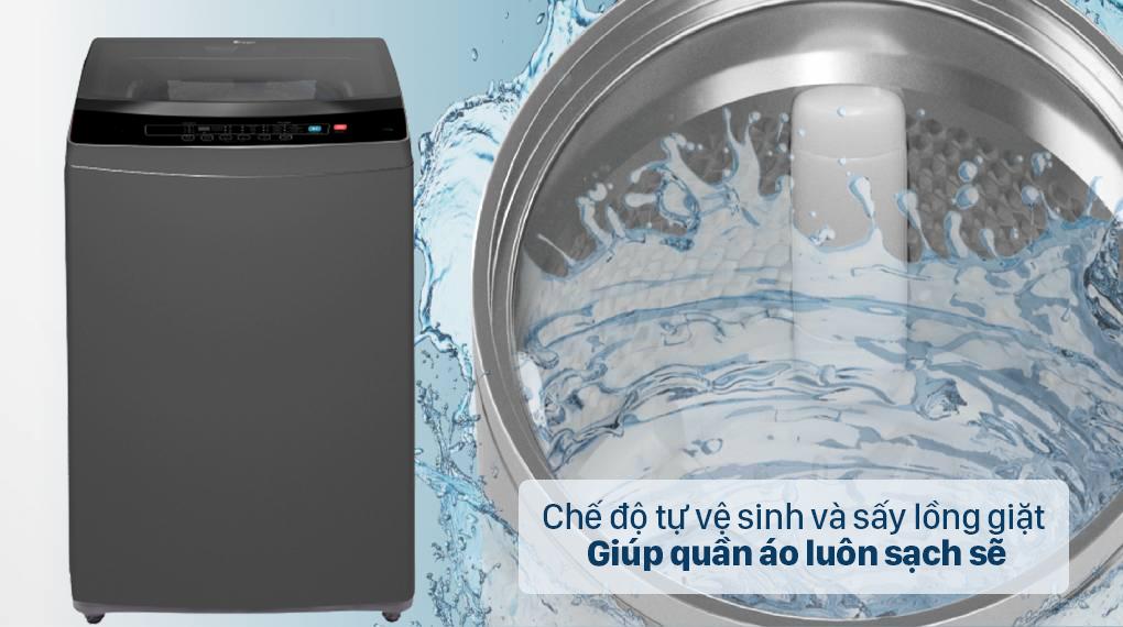 Máy giặt Casper Inverter 9.5 kg WT-95I68DGA - Đảm bảo quần áo luôn giặt sạch với chế độ tự vệ sinh và sấy lồng giặt