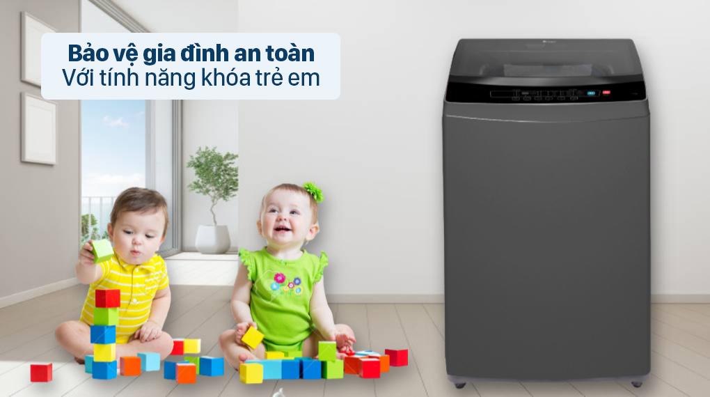 Máy giặt Casper 9.5 kg WT-95N68BGA - Bảo vệ gia đình an toàn với tính năng khóa trẻ em