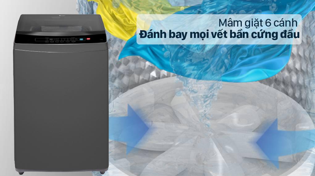 Máy giặt Casper 9.5 kg WT-95N68BGA - Đánh bay mọi vết bẩn cứng đầu với mâm giặt 6 cánh