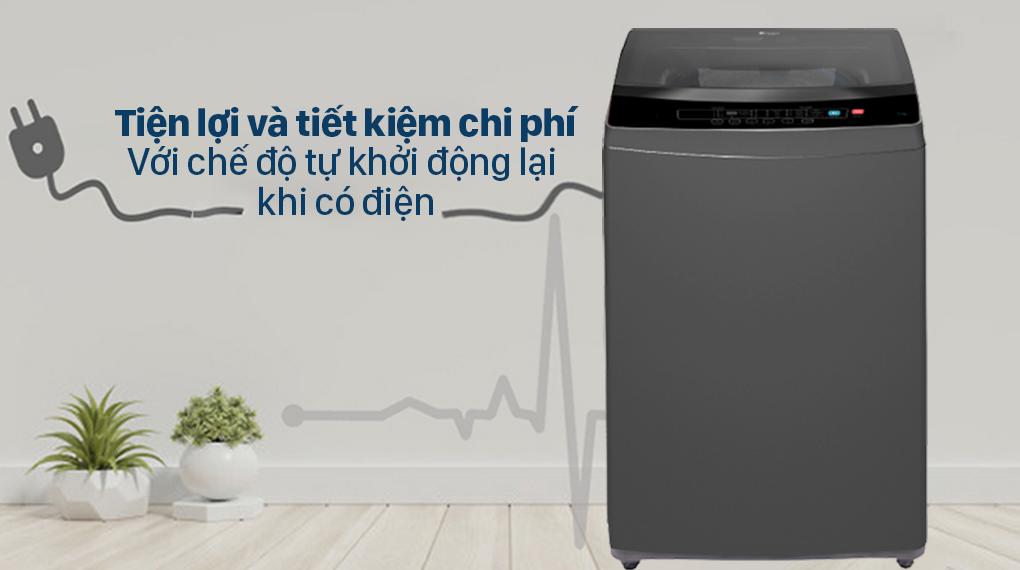 Máy giặt Casper 9.5 kg WT-95N68BGA - Tiện lợi và tiết kiệm chi phí với chế độ tự khởi động lại khi có điện