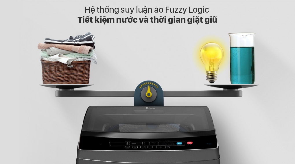 Máy giặt Casper 8.5 kg WT-85N68BGA - Fuzzy Logic